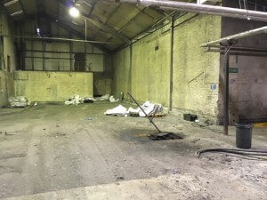 clean warehouse in woolwich