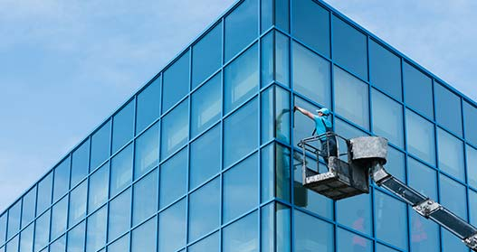 Highrise office window cleaning